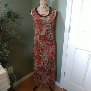 Studio I,  floral sleeveless maxi dress